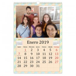 Calendario de Pared anillas A4
