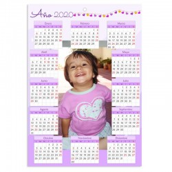 Calendario pared a4 lila